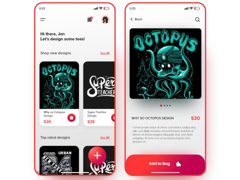 Tshirt Design Store App