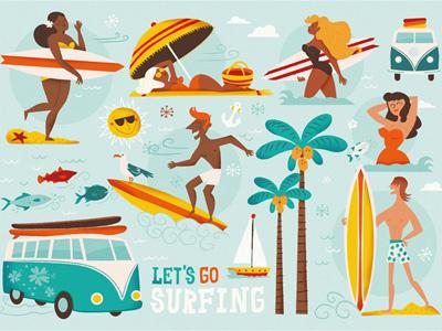 Letsgosurfing Raqueljove surfing board beach summer fun surf
