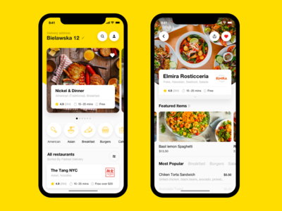 Food Delivery App. Restaurants