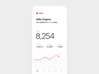 Micro-interaction for Steps Tracking App