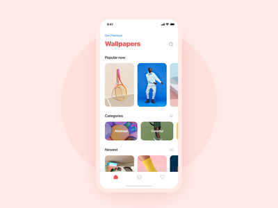 Wallpaper App Animation trends trend 2019 animation interaction design motion after affects wallpaper interaction photo share category white clean colorful olefir eugene olefir minimal ui ux