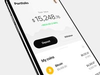 Crypto Trading App wallet ux ui eugene olefir olefir motion animation design minimal white technology stocks money finance exchange cryptocurrency trading crypto