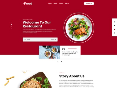 Restaurant UI Design