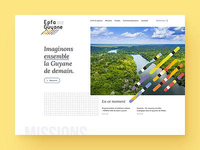 UI proposal for the public establishment of Guyana news mission website guyana ui design