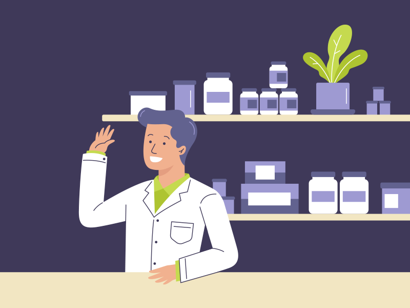 Health professional medicine drug design illustration medical vector pharmacist professional health disease