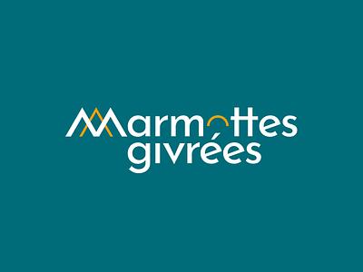 Marmottes givrées mountain climbing climb vector typography logo identity design