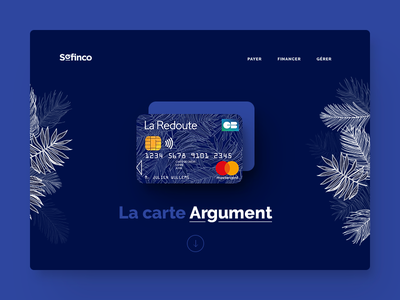 UI proposal of a landing page for a credit card credit credit card landing design ui
