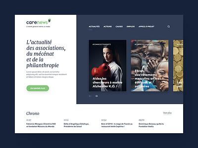 Homepage for a media site foundation ui association news media design website