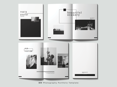 B&W Photography Portfolio Template