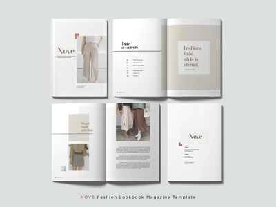 NOVE Fashion Lookbook Magazine Template