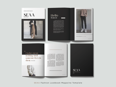 SEAA Fashion Lookbook Magazine Template