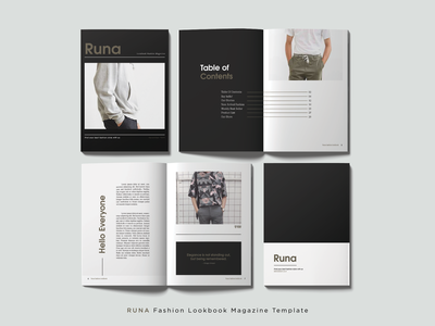 RUNA Fashion Lookbook Magazine Template