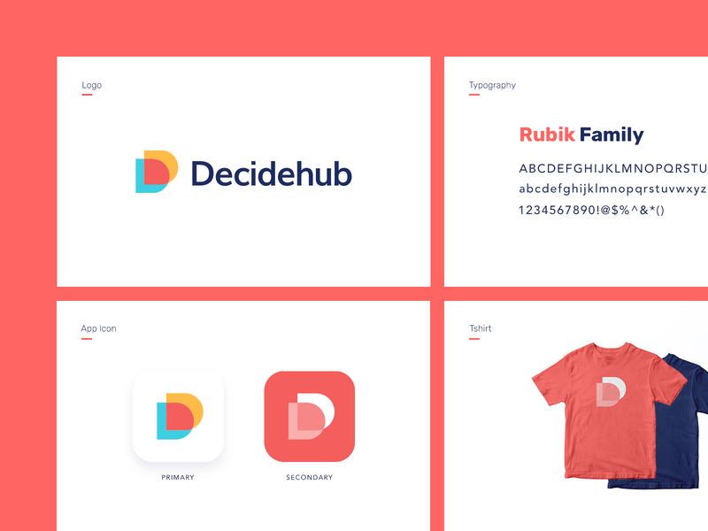 Decidehub Branding grid lettering symbol monogram icon logotype illustration identity branding logo