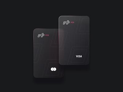 RT Pos : Card glass effect money transfer credit card pos system debitcard icon type lettering logotype monogram design identity branding logo