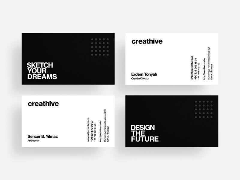 Creathive Business Cards card logotype identity logo business cards branding