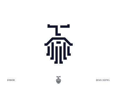 Zeus Hotel icon logo illustration identity hotel line design zeus branding