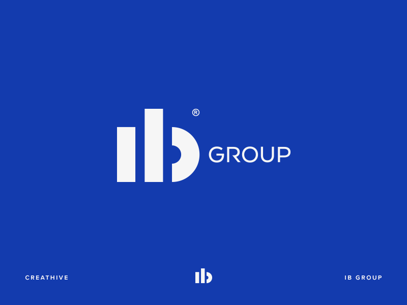 IB Group type logotype logo lettering illustration identity design branding b ıb monogram