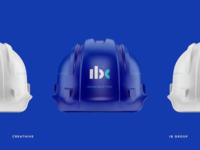IB Construction Hard Hat logotype logo lettering identity branding mark symbol hat hard monogram