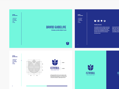 İstanbul ÇDP Branding tulip logo location illustration identity icon grid branding