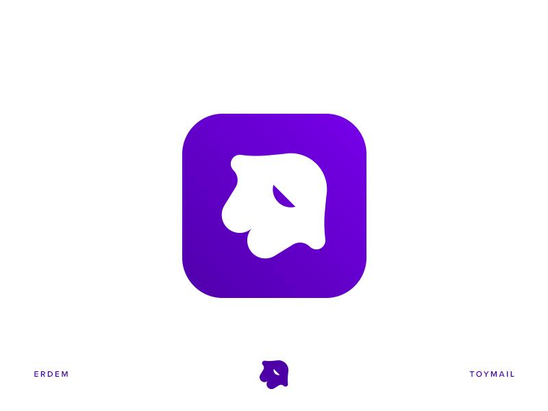 Toymail symbol child identity illustration branding logo icon app toy
