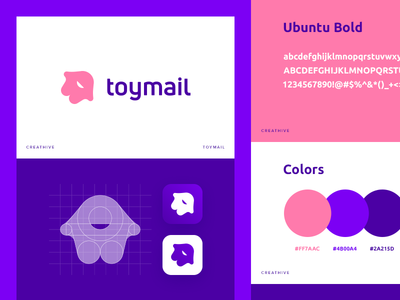 Toymail Branding icon identity illustration branding app icon logo