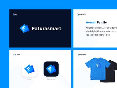 Faturasmart Branding type logotype logo lettering illustration identity design branding app icon f bill