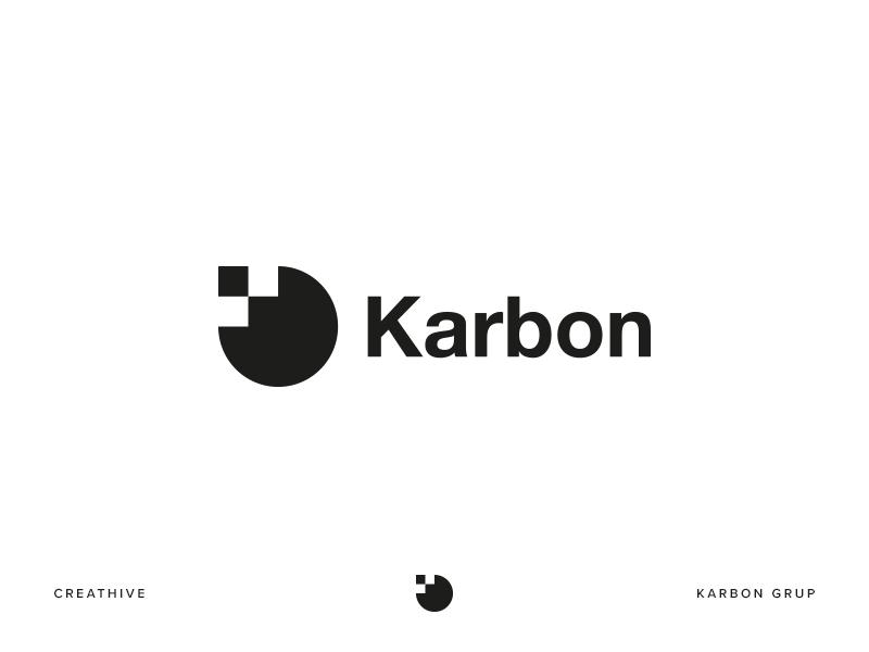 Karbon Grup monogram group karbon branding design identity illustration logo logotype