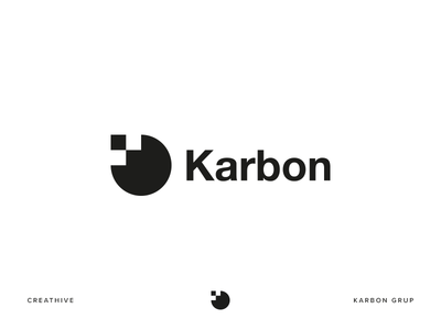 Karbon Grup monogram group karbon branding design identity illustration logo logotype