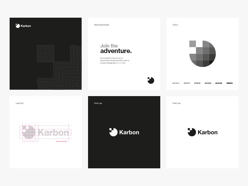 Karbon Grup Branding logotype logo illustration identity design branding karbon group monogram