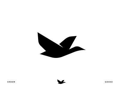 Goose symbol goose bird icon bird bird logo bird illustration branding illustration icon logo