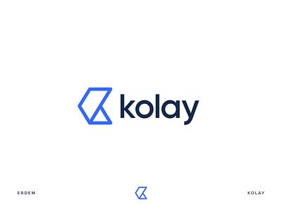 Kolay k letter k logo k symbol icon logotype illustration identity branding logo