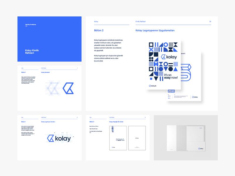Kolay Branding k logo software company saas symbol lettering monogram icon logotype design identity illustration branding logo