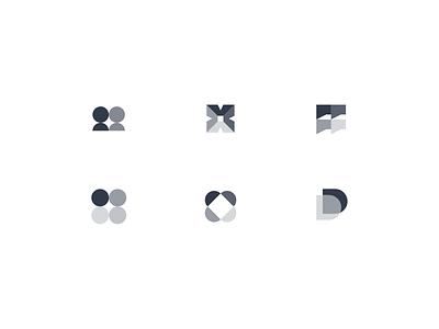 Decidehub lettering symbol monogram icon logotype design identity illustration branding logo