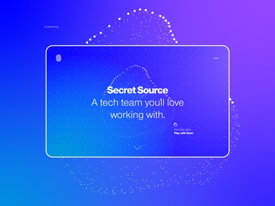 Interactive Homepage Design for SS ui concept design homepage design webdesig