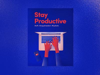 wfh illustration design stayproductive wfh illustrations illustraion