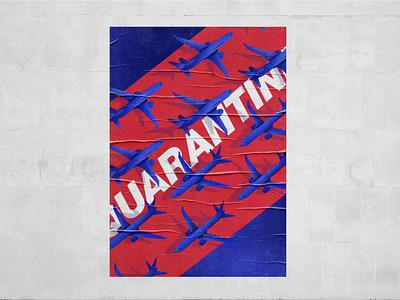 Desolation poster design grounded airplane poster illustration