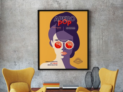 AperoPOP Poster illustration design print print design poster art posters poster design vector illustration
