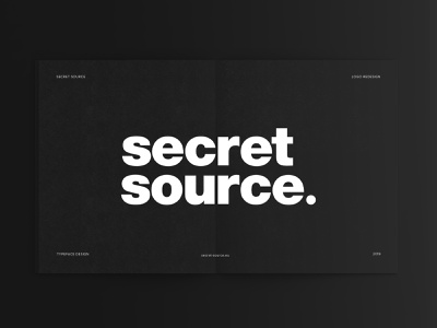 Secret Source Logo   Typeface Redesign brand identity logodesigns logo logodesign logoredesign logotype brand design branding logo design