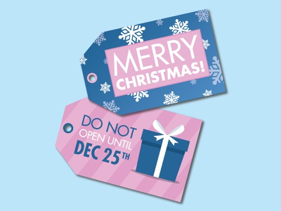 Holiday Tags holiday snowflake gift font type weeklywarmup dribbbleweeklywarmup tag christmas typography minimal icon flat illustration vector design