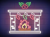 Neon Fireplace