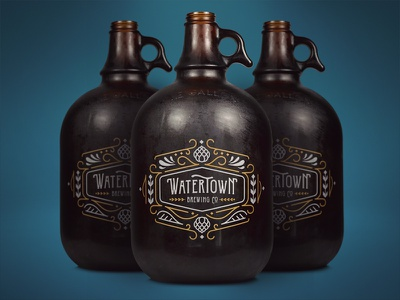 Watertown Brewing Company identity brand sd south dakota microbrew hops growler beer