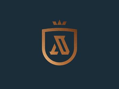 Aspire bronze identity a crown shield icon mark brand logo