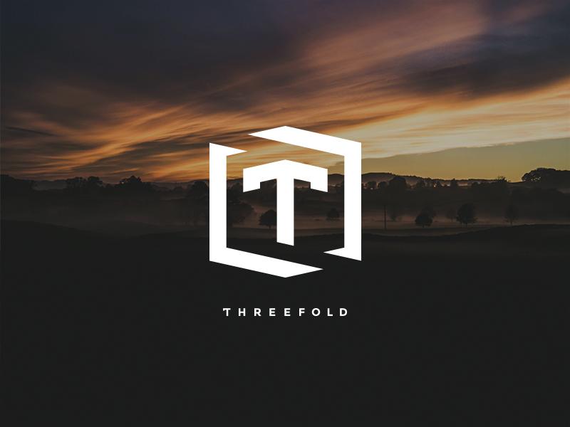 Threefold monoline videography bismarck north dakota three t identity icon mark brand logo