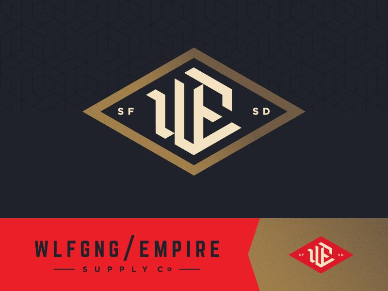Wolfgang Empire diamond classic south dakota blackletter apparel clothing empire gold identity mark brand logo