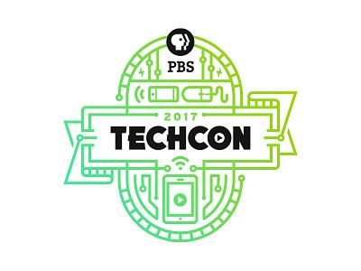 PBS TechCon banner technology circuits conference tech pbs monoline badge brand