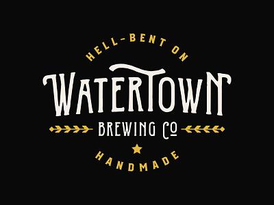 Watertown Brewing Co. south dakota wheat branding brewing beer lockup badge logo