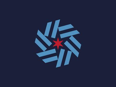 Illinois (WIP) blue stripes illinois brand flag chicago star trademark mark logo