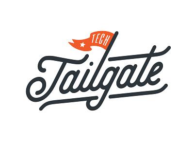 Tech Tailgate 2017 north dakota fargo nd tailgate tech banner star script flag brand logo