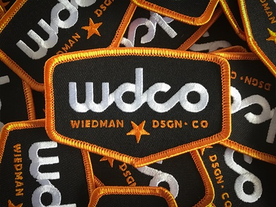 WDCo Patch star gold badge trucker embroidered patch