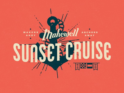 Sunset Cruise makers makewell ahoy bismarck north dakota cruise sunset flags nautical riverboat rope boat anchor